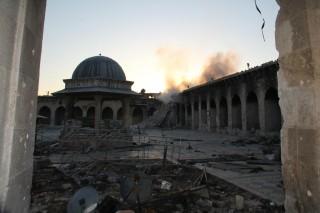 La Moschea degli Omayyadi dopo la distruzione, foto di heritage of peace