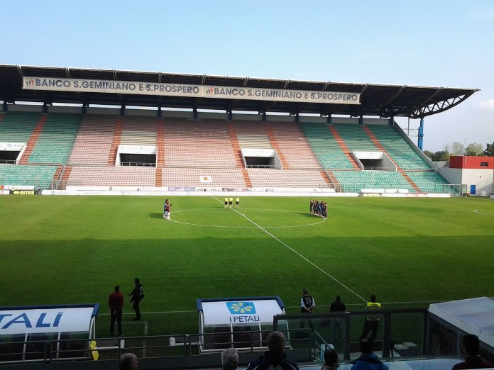 Mapei Stadium, casa del Sassuolo, fonte By RegSimo at Italian Wikipedia - Transferred from it.wikipedia to Commons., Public Domain, https://commons.wikimedia.org/w/index.php?curid=35585800