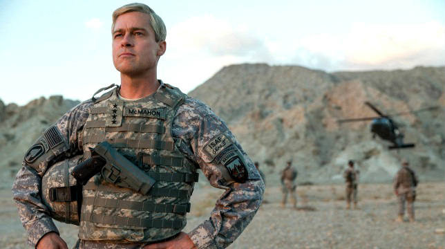 Brad Pitt in War Machine, fonte Netflix