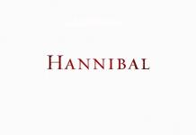 Hannibal serie tv logo, font Wimedia Commons