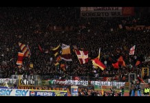 Curva Sud dell'AS Roma, Stadio Olimpico. Fonte: Flickr