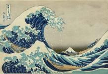 La grande onda di Kanagawa, Hukosai. Fonte: Wikipedia.