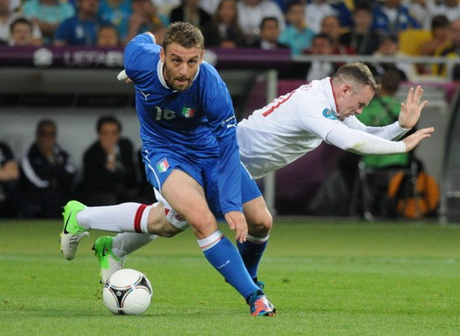 Daniele De Rossi, fonte By Football.ua, CC BY-SA 3.0, https://commons.wikimedia.org/w/index.php?curid=20029518