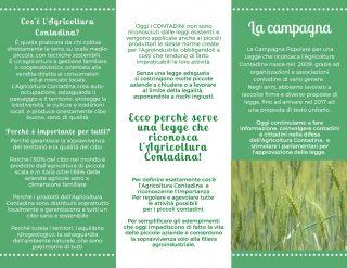 Volantino della campagna che riconosce l'agricoltura contadina