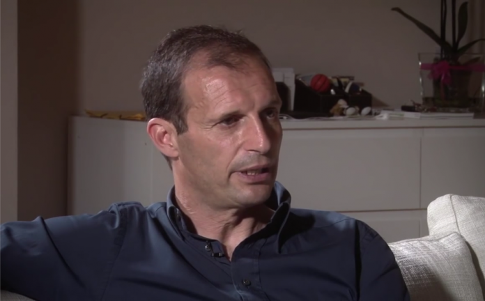 Massimiliano Allegri, tecnico della Juventus, fonte Youtube