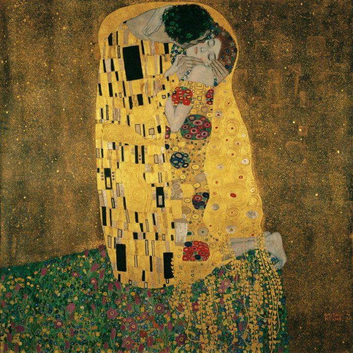 Gustav Klimt, Il bacio, 1907-8, Österreichische Galerie, Vienna. Fonte: The Art Post Blog