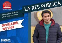 Giovedì 4 marzo 2021 ospite de 'La Res Publica' il regista Andrea Valentino
