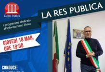 Raffaele Bene, Sindaco di Casoria, di nuovo ospite a 'La Res Publica' giovedì 18 marzo 2021