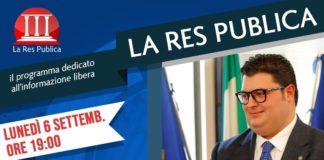 Alessandro Iovino ospite de 'La Res Publica' lunedì 6 settembre 2021